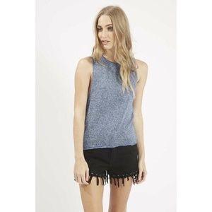 Topshop Blue Knit Tank Top | 4